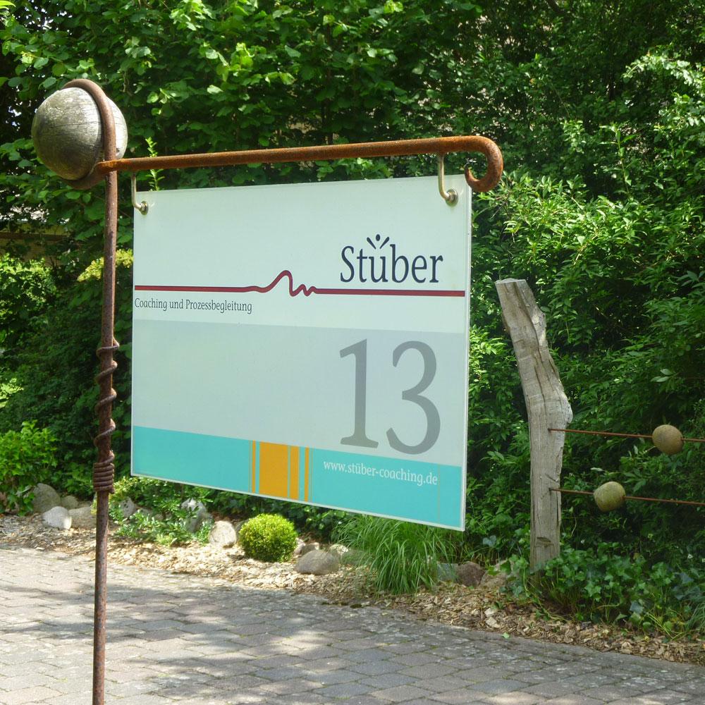 Stüber-Coaching-Schild